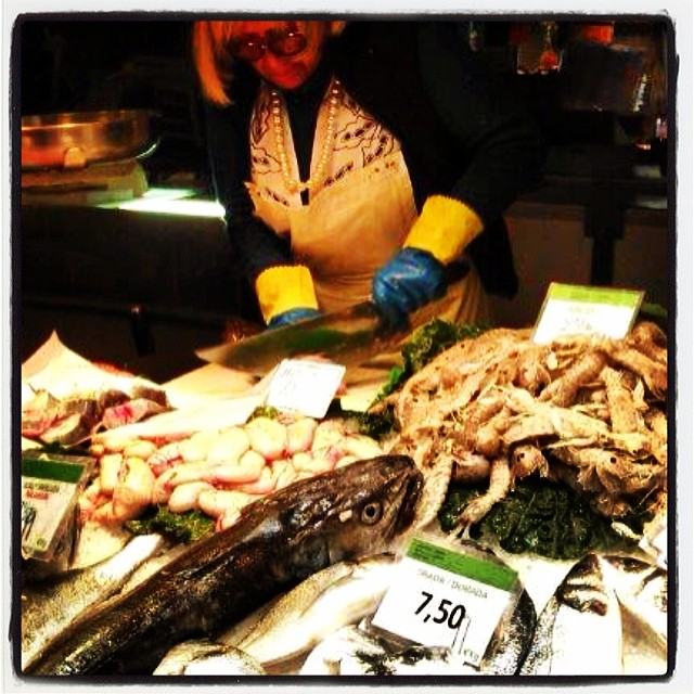 Fiskmarknad i Barcelona